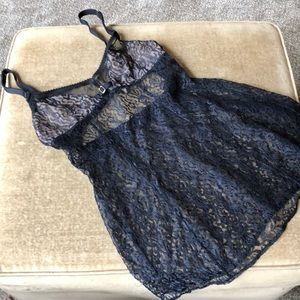 Victoria's Secret black medium night gown GUC